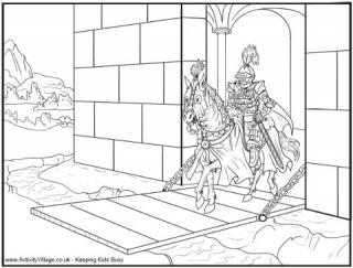 castle colouring pages