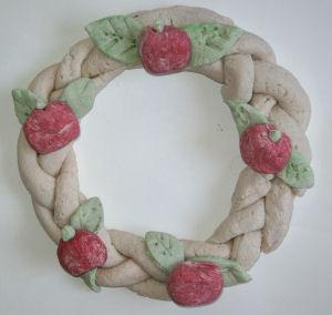 Salt Dough Apple Wreath and Name Card Holder