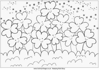 shamrock colouring pages