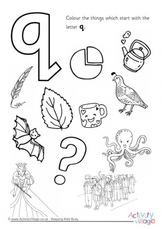 letter q coloring page # 7