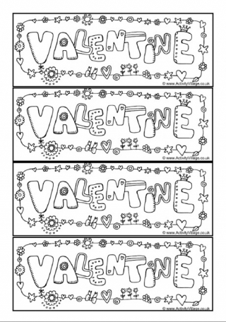 Printable Bookmarks For Valentines Day