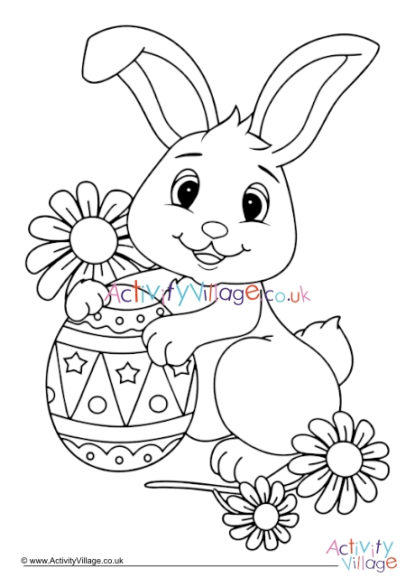 Easter Bunny Colouring Page 4