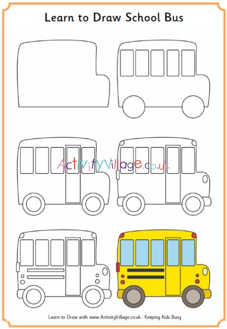 Learn To Draw A School Bus