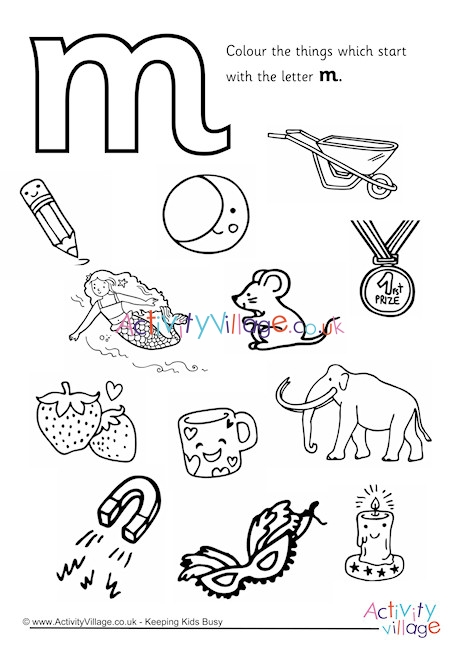 letter m coloring page # 18