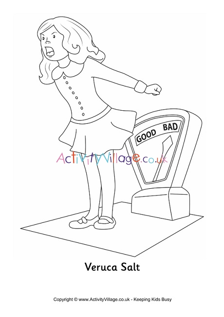 veruca salt colouring page