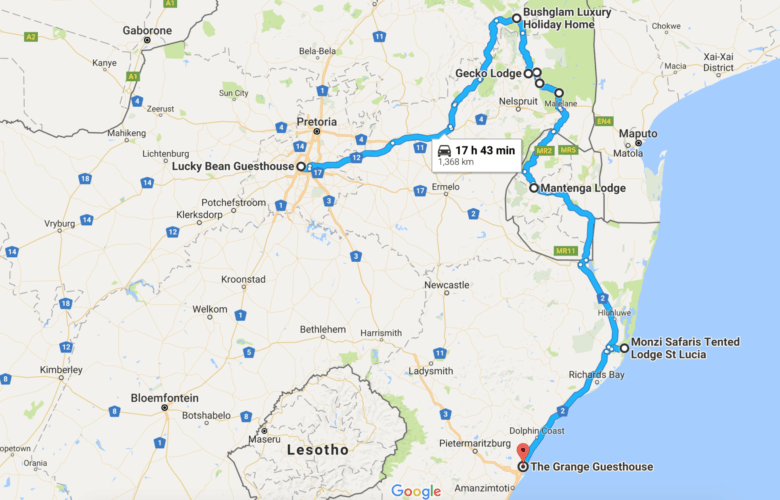 South Africa Route part 1