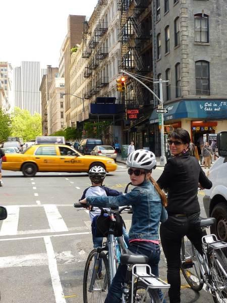 On a bike New York City
