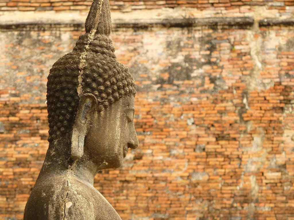 Buddha brick wall