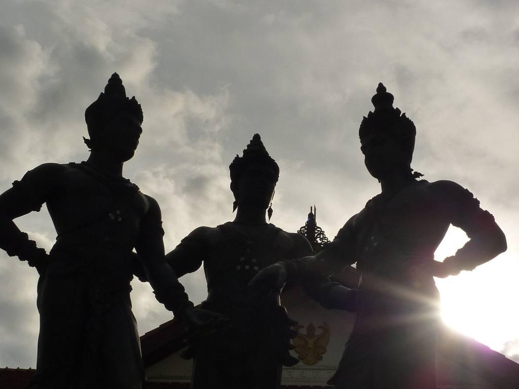 Thailand statue sun