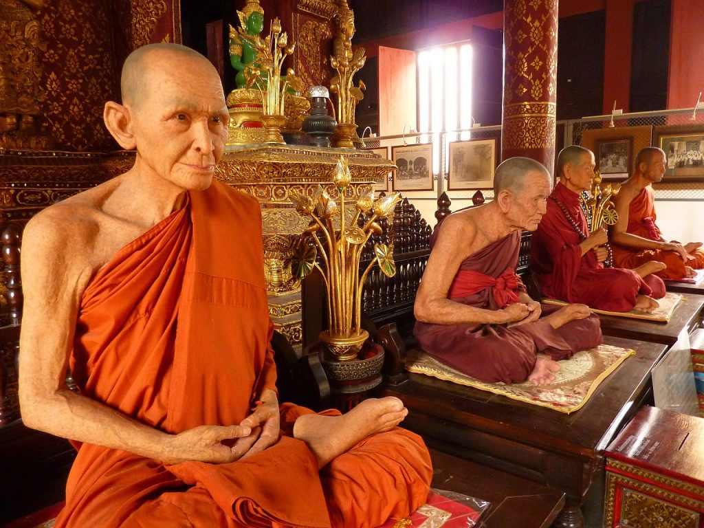 Monk wax statues