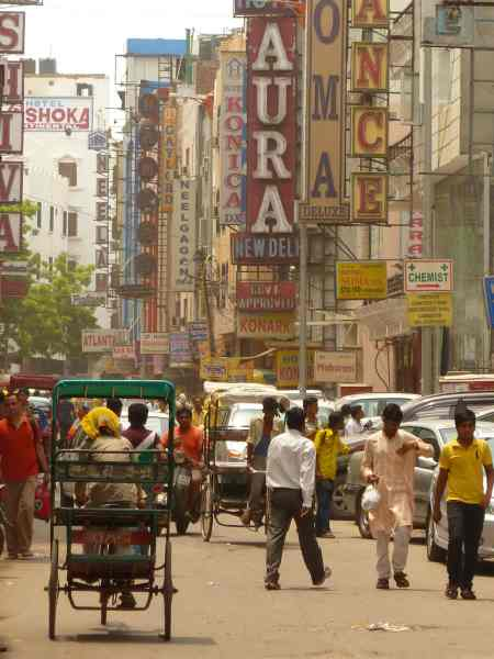 Street scene Delhi India
