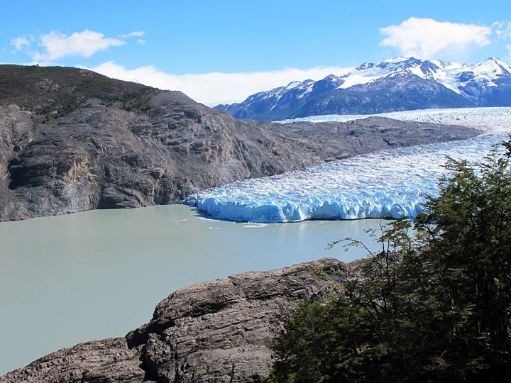 Surreal places glacier grey
