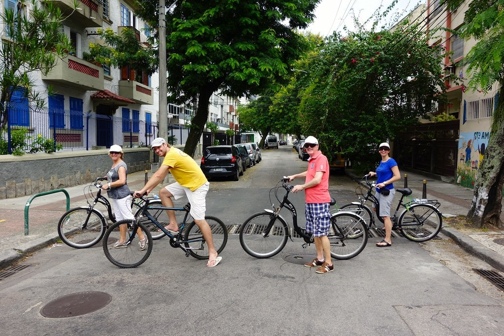 Crossing the streets with bikes in Rio