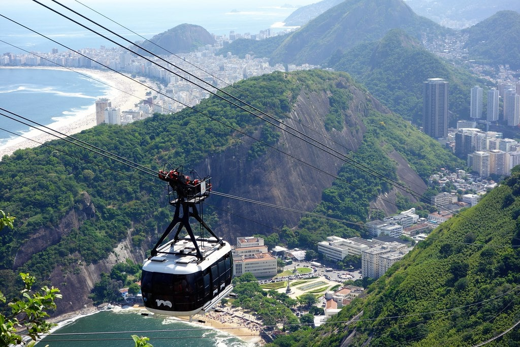 Cable car up to Sugar Loaf