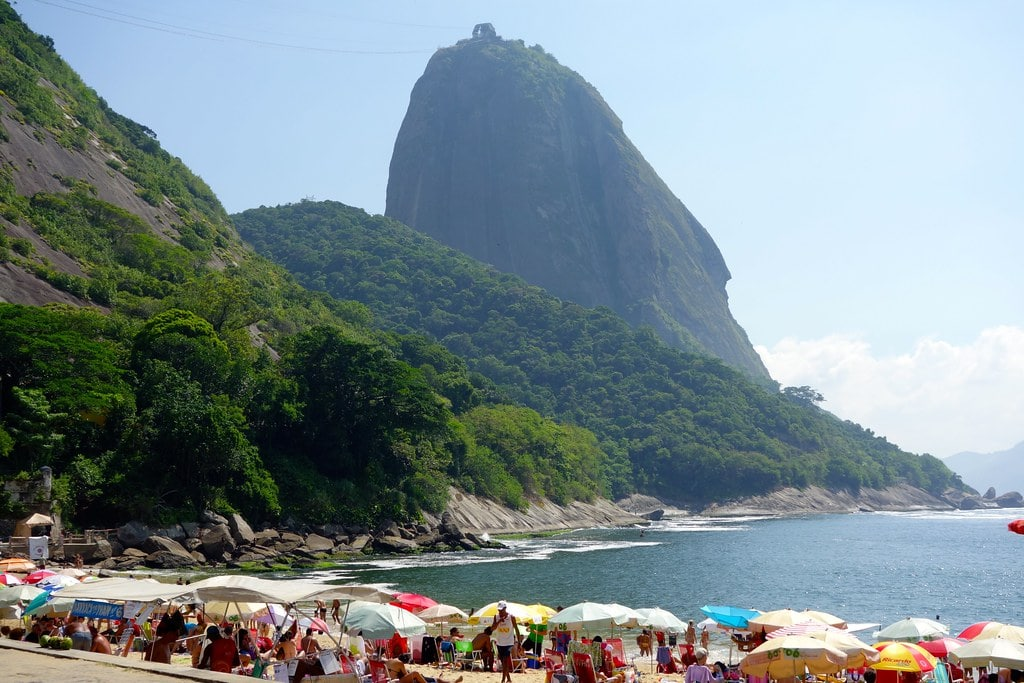 View of Sugar Loaf from the beach