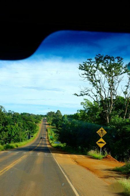Driving roads Minas Gerais Brazil