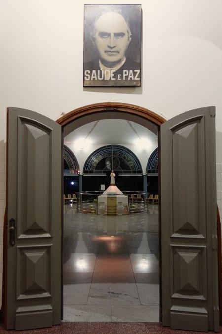 Entrance to grave Padre Eustaquio