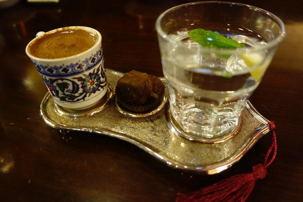 Serving Turkish coffee