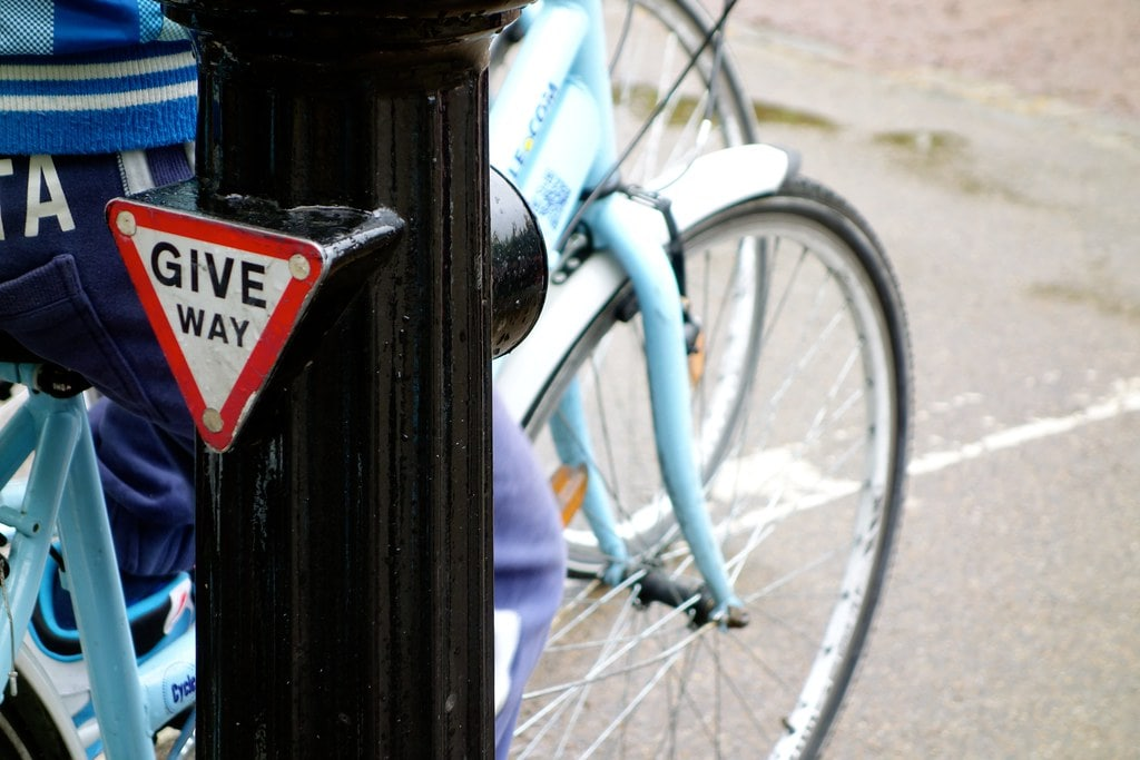Give way bicycle London