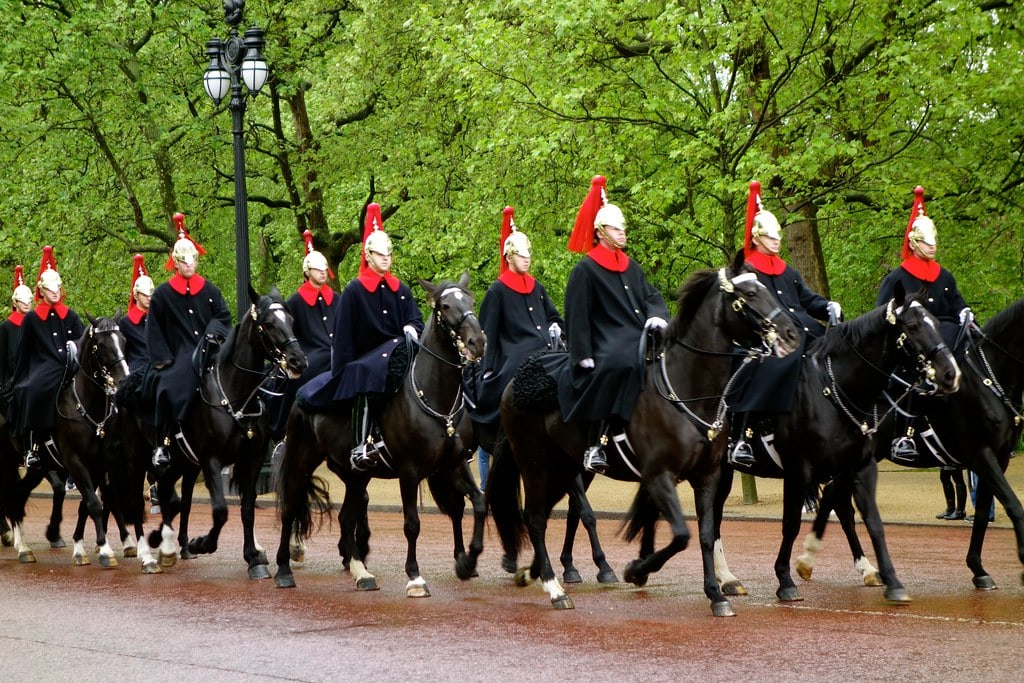 Changing guards Buckingham Palace