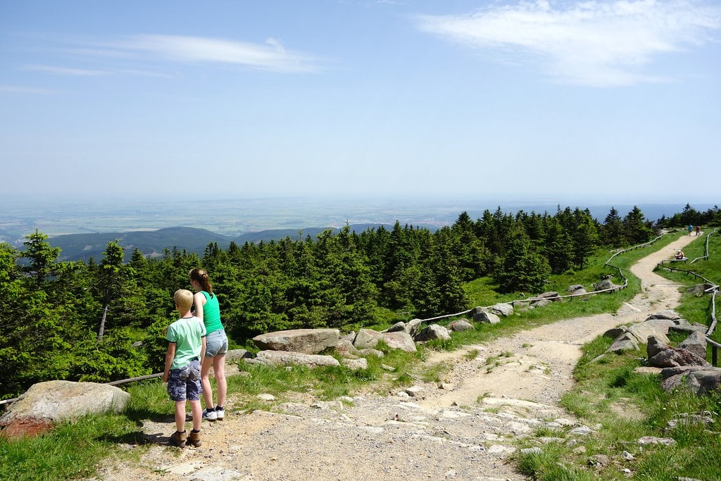 Walking trails Brocken mountain