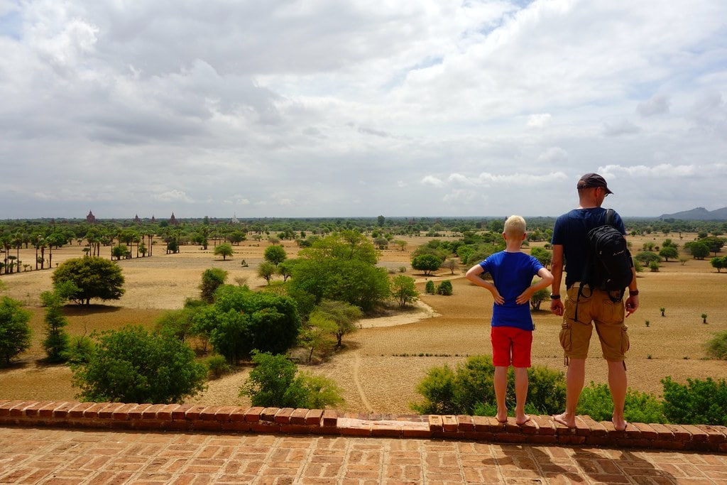 Look out Bagan plains
