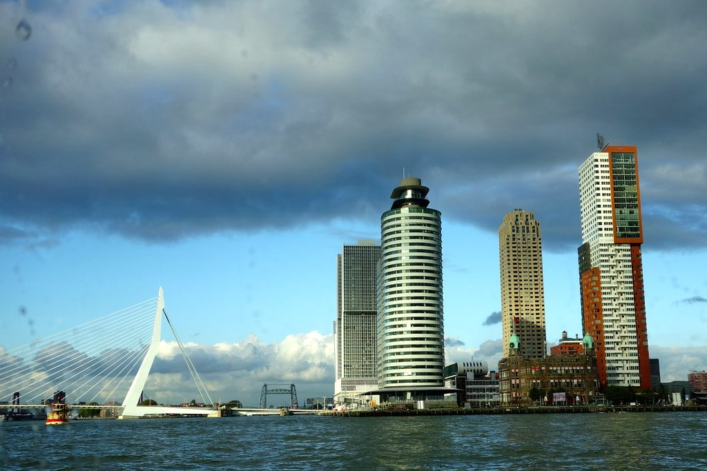 Skyline Rotterdam from the water