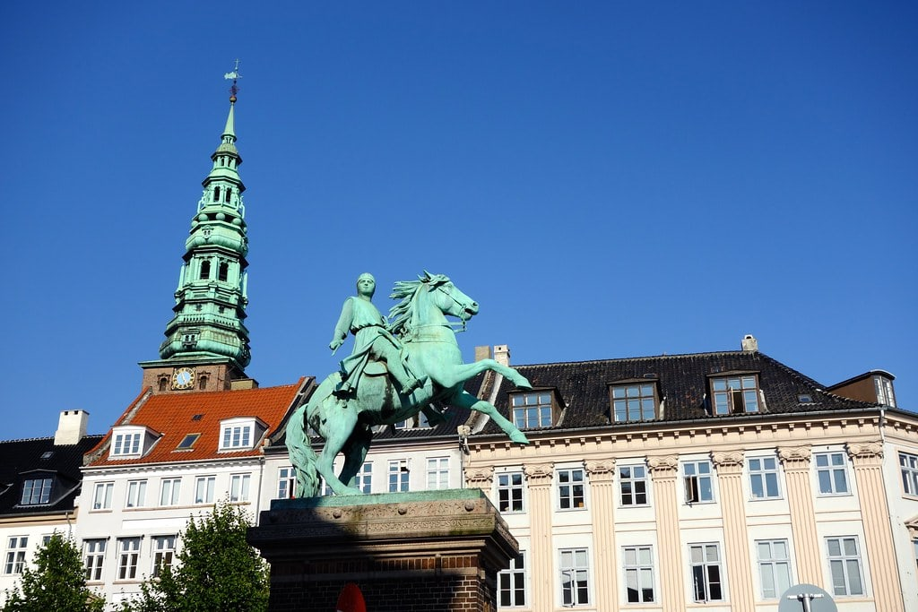 Statue men on horse Copenhagen