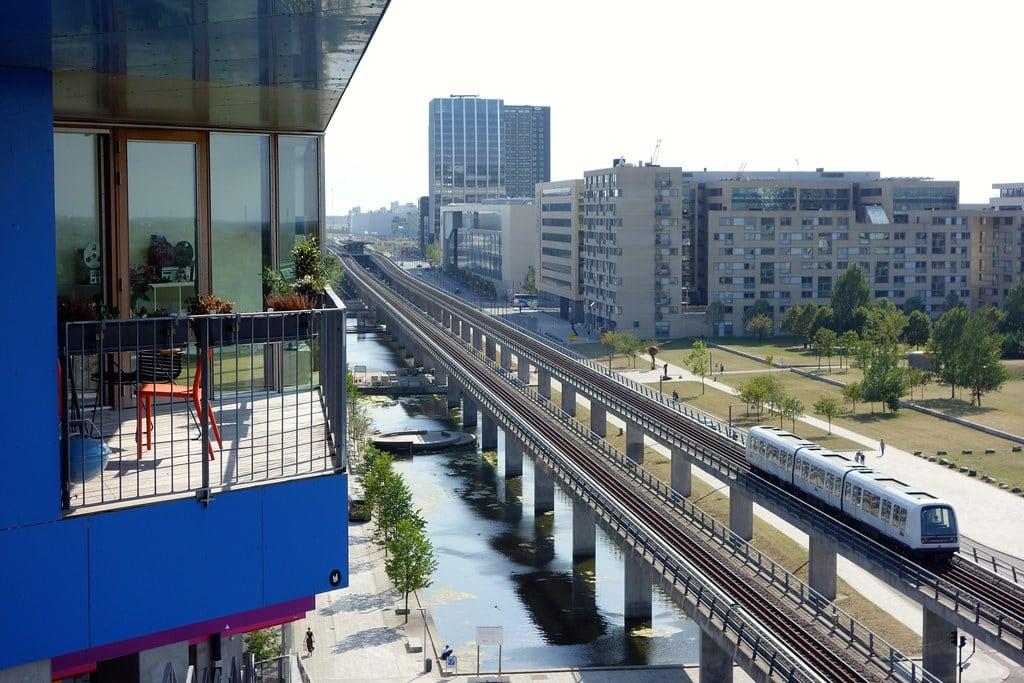 Metro in Ørestad Copenhagen