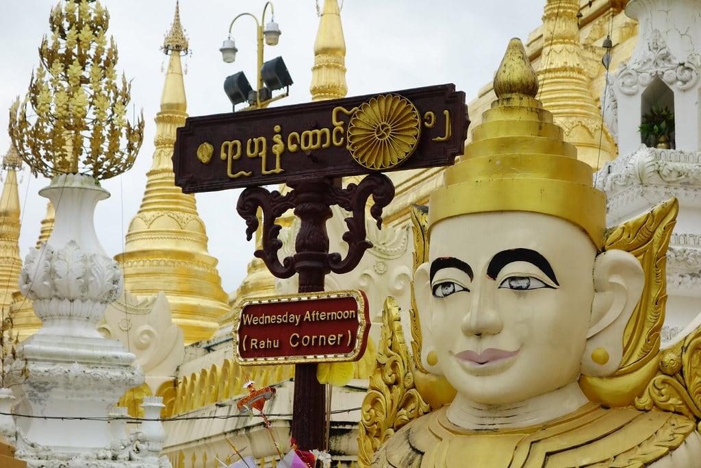 Corner with statue temple