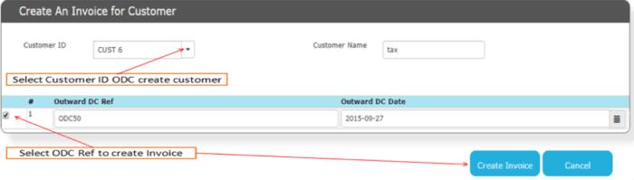 Convert ODC to Invoice