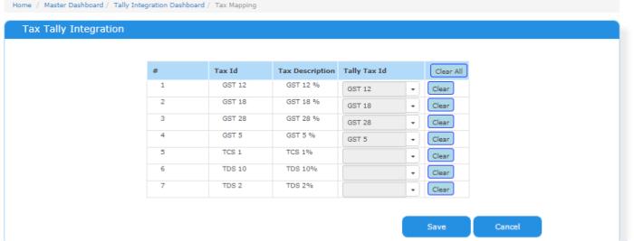 Tally ERP integration