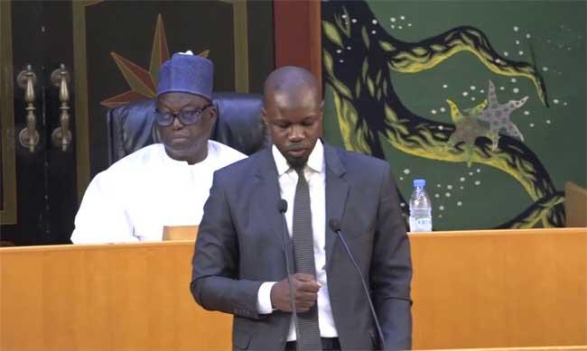 Assemblée nationale : La plénière pour la levée de l'immunité parlementaire du député Ousmane Sonko a démarré.
