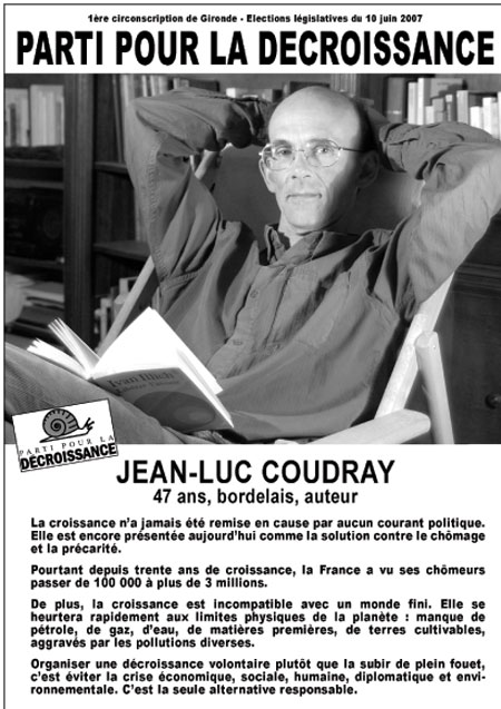 Cartaz de propaganda eleitoral de Coudray