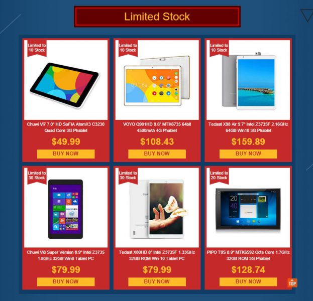 Everbuying tablets de oferta