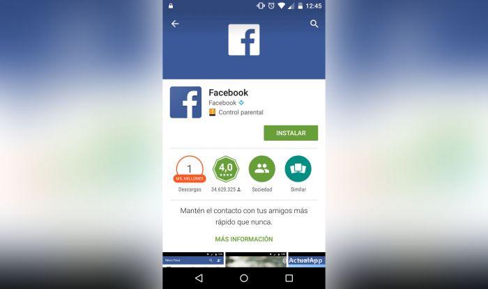 Descargar Facebook Android
