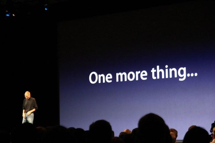 Apple keynote generico one more thing