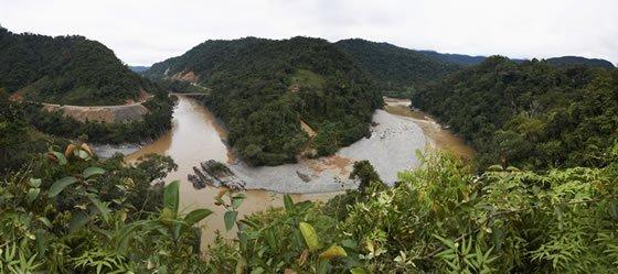 Foto: río Inambari, lugar en donde se pretende construir una central hidroeléctrica