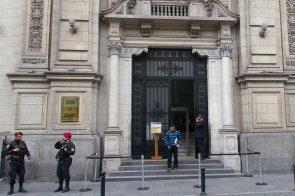 Aarón Nacua a la salida del Consejo de Ministros.