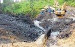 Se constató que el fluido del derrame sigue el cauce de la quebrada Inayo, tributaria del río Chiriaco.