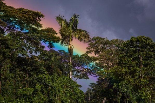 11. Arcoíris, una imagen que se repite por este paraje natural.