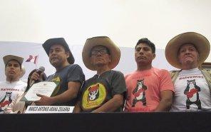 Representantes de la comunidad campesina que protege Chaparrí estuvieron entre los más ovacionados.