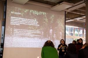 """Equipo Caleidos, presentó el proyecto """"Vía en alerta"""". Este sistema detecta la deforestación por carreteras en zonas intangibles y reservas. Foto: Jhonny Salazar / SPDA"""