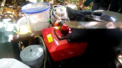 Motor encontrado en Alvarenga.