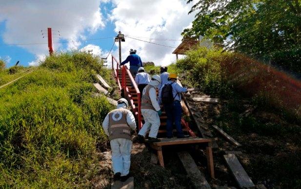 Equipo del ALA, OEFA y Fema Maynas en la última inspección realizada. Foto: FEMA