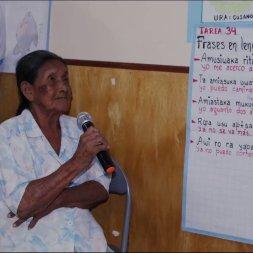 Amelia Huanaquiri, sabia del pueblo Omagua, participó activamente en la revitalización de su lengua nativa. Foto: Minedu