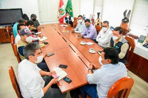 Reunión entre representantes de la PCM con Gorel. Foto: Gorel