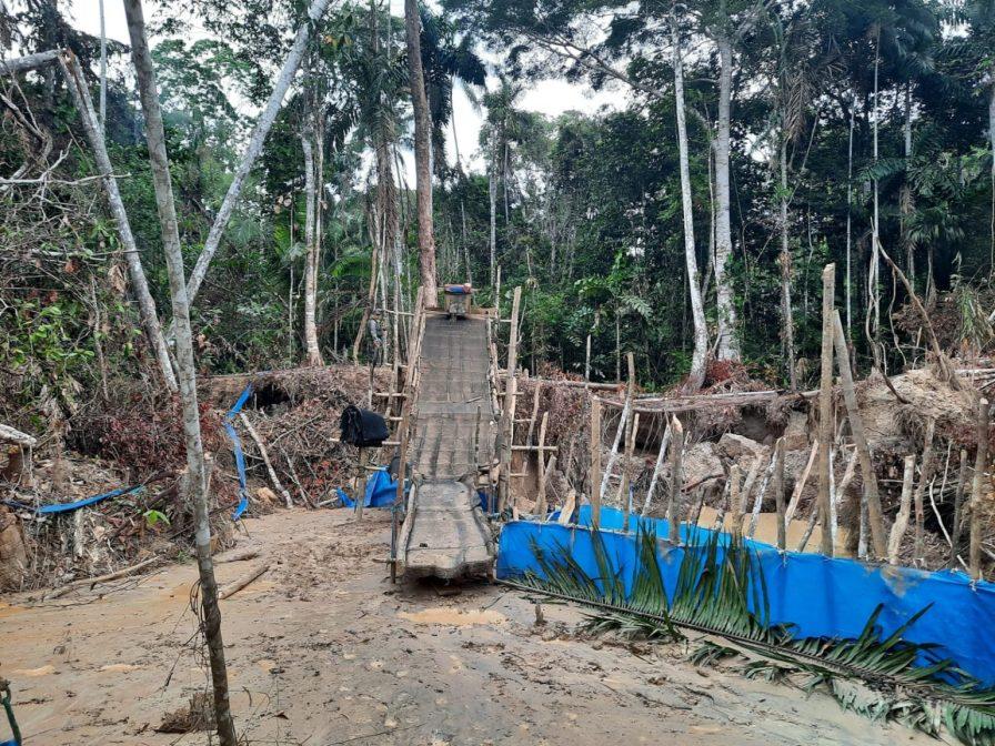 Los indígenas de las comunidades cercanas a estas áreas de extracción habían denunciado que los mineros operan coludidos con los concesionarios de Castaña. Foto: FEMA Madre de Dios.