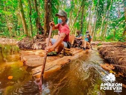 Circuito de balsas. Amazon Forever Biopark