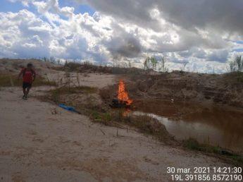 El martes 30 de marzo se realizó un operativo en la zona de amortiguamiento de la Reserva Nacional Tambopata. Foto: FEMA